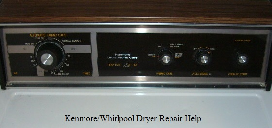 Kenmore Whirlpool Dryer Repair Help