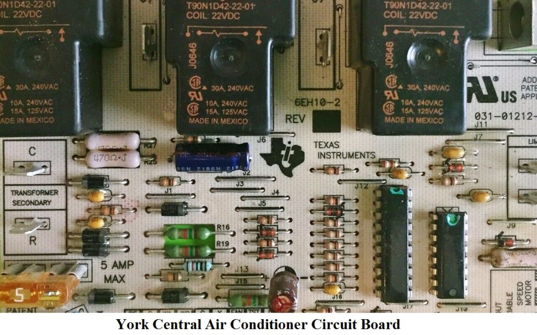 York Central Air Conditioner Circuit Board Replacement